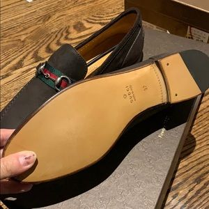 Gucci Shoes - NIB Authentic Gucci Suede Horsebit Buckle Loafer